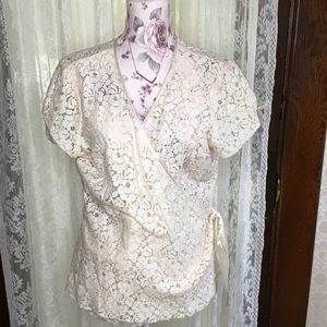 Old Navy wrap lace blouse XL